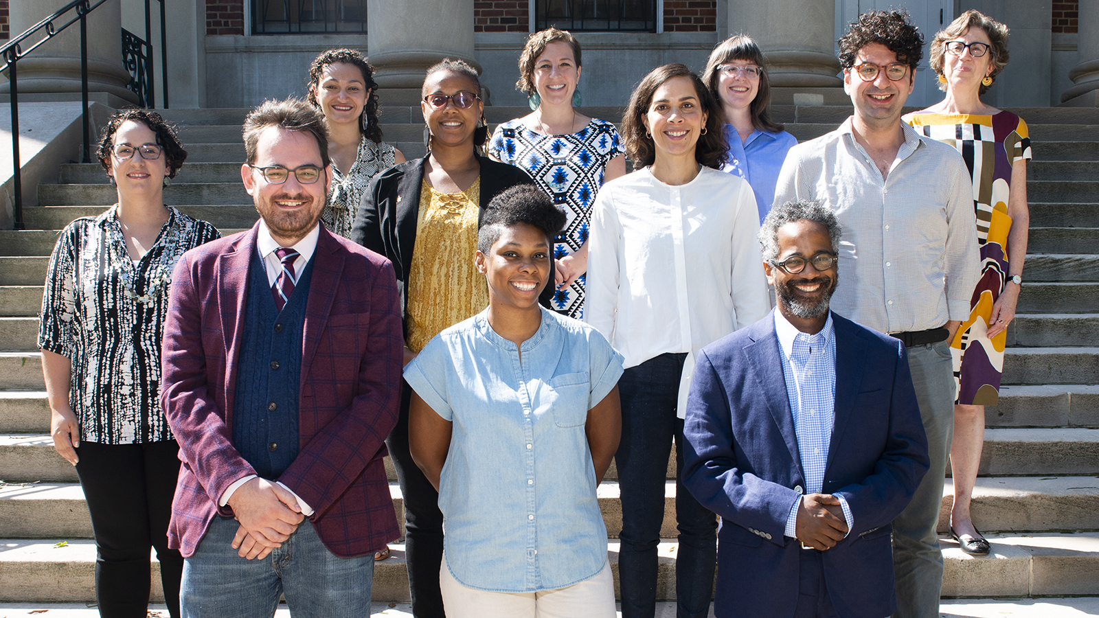 Group shot of new faculty 2019-20.